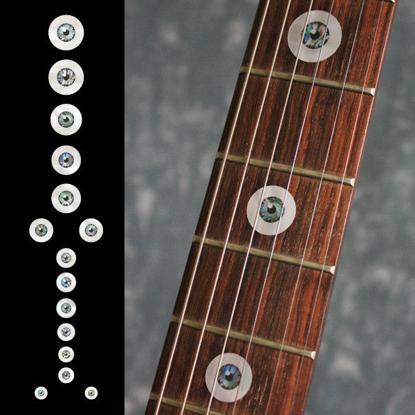 Eyeball Fret Markers Inlay Stickers Decals Guitar Bass