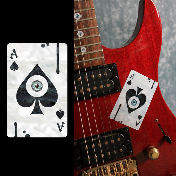 Ace of Spades & Eyeball  Inlay Stickers Decals