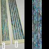 Sticks (Abalone-Blue)  Inlay Stickers Decals Guitar Bass