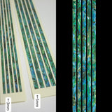 Sticks (Abalone-Green)  Inlay Stickers Decals Guitar Bass