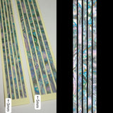 Sticks (Abalone-Mixed)  Inlay Stickers Decals Guitar Bass