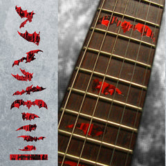 Bloody Vampire Bat Fret Markers Inlay Stickers Decals