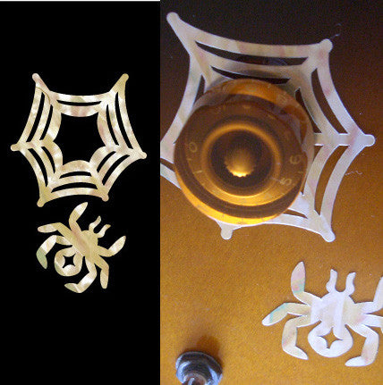 Spider Web - Volume & Tone Knobs Decals - Inlay Stickers Jockomo