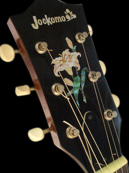 Lily Flower Inlay Sticker Decal Headstock Peghead