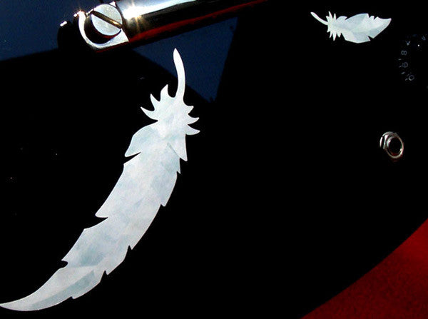 White Feathers Inlay Stickers - Inlay Stickers Jockomo