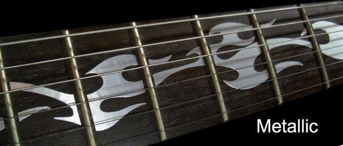 Fire Flames - Fret Markers for Guitars - Inlay Stickers Jockomo