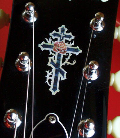 Cross & Rose (small) Inlay Stickers - Inlay Stickers Jockomo
