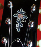 Cross & Rose (small) Inlay Stickers Decals