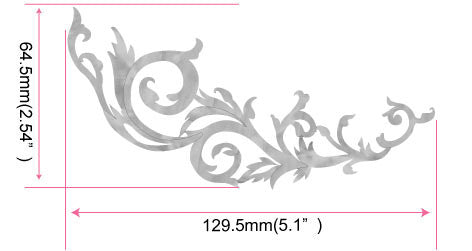 Gothic Line DS Inlay Stickers (White Pearl) - Inlay Stickers Jockomo