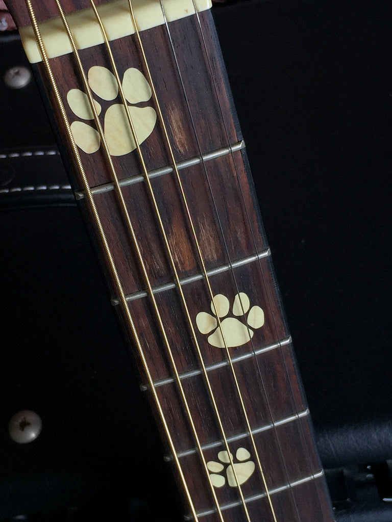 Animal Foot Prints Fret Markers Inlay Sticker Decals Guitar & Bass - Inlay Stickers Jockomo