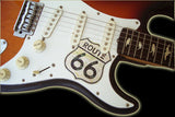 Pickguard Sticker for Stratocaster Route 66 Inlay Stickers Guitar