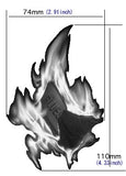 Real Fire Flame-Blues In The Fire Inlay Stickers Decals