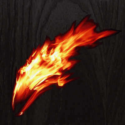 Real Fire Flame-Burning  Inlay Stickers Decals Guitar Bass