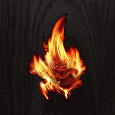 Real Fire Flame-Rose In The Fire  Inlay Stickers Decals - Inlay Stickers Jockomo