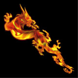 Real Fire Flame-Dragon Inlay Stickers Decals Guitar Bass