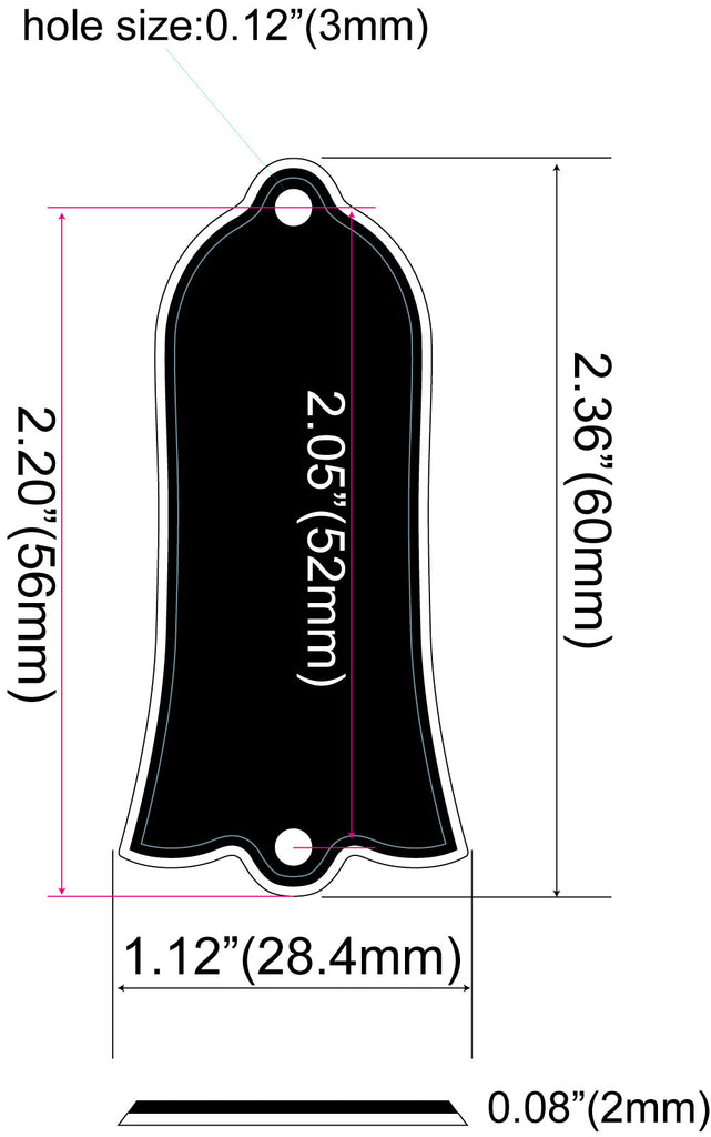 Bell/Regular(Les Paul) 2-Hole Custom Engraved Truss Rod Cover