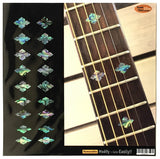 Traditional Slotted Diamond Fret Markers Inlay Sticker Decals Guitar & Bass - Inlay Stickers Jockomo