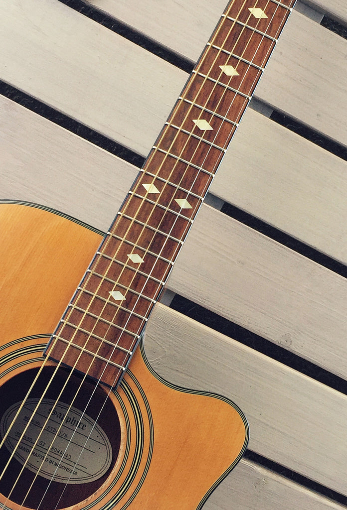 Traditional Diamonds - Fret Markers Inlay Stickers Decals for Guitars, Bass & Ukuleles - Inlay Stickers Jockomo