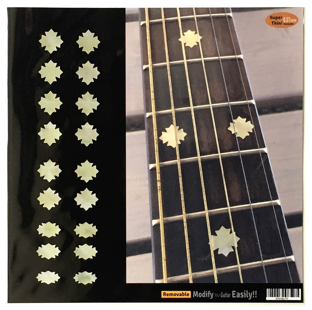 Traditional Snowflakes Fret Markers Inlay Stickers Decals Guitar & Bass - Inlay Stickers Jockomo