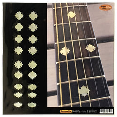 Traditional Snowflake Fret Markers Inlay Sticker Decals Guitar & Bass