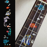 A Small Sea Scape Ukulele Fret Markers Inlay Stickers Decals