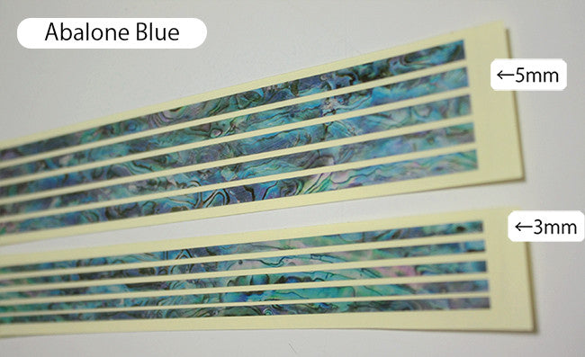 Sticks (Abalone-Blue)  Inlay Stickers Decals Guitar Bass - Inlay Stickers Jockomo