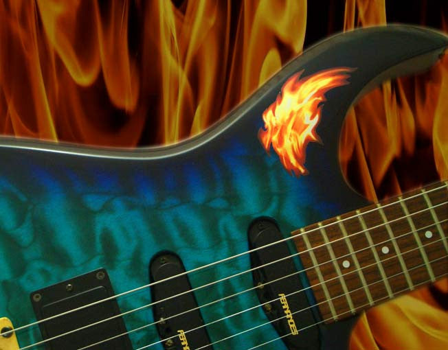 Real Fire-Tiny Flame Inlay Stickers Decals Guitar Bass