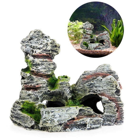 Decorative Resin Rock Fish Cave