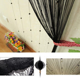 black beaded string curtain