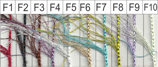 feathered string curtains colour chart