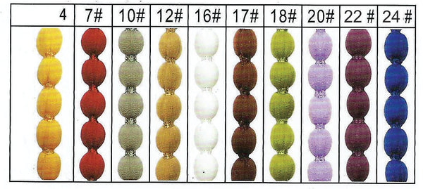 HL bauble string curtain colour chart