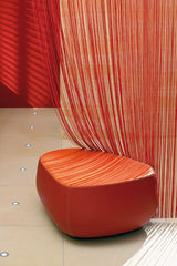 orange string curtain