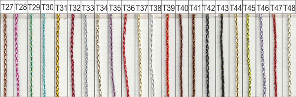 metallic string curtain colour chart