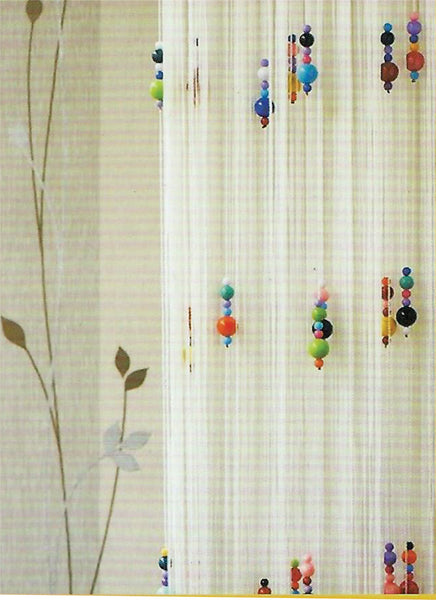 multi coloured beaded string curtains