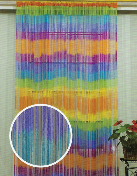 Tie Dye string door curtains