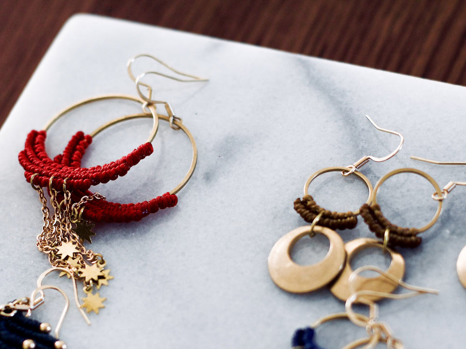 Add a pop of colour with one of our earring styles