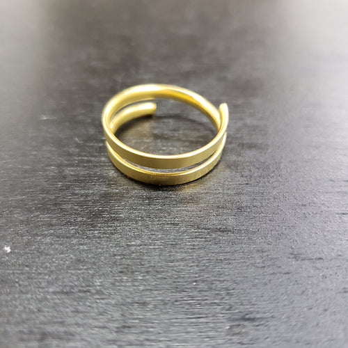 Gold plated spiral ring