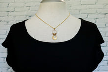 Load image into Gallery viewer, Big disc drop necklace in light brown