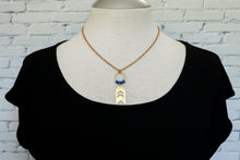 Load image into Gallery viewer, Small arrow necklace in blue