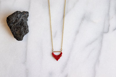 Becca necklace in cherry red