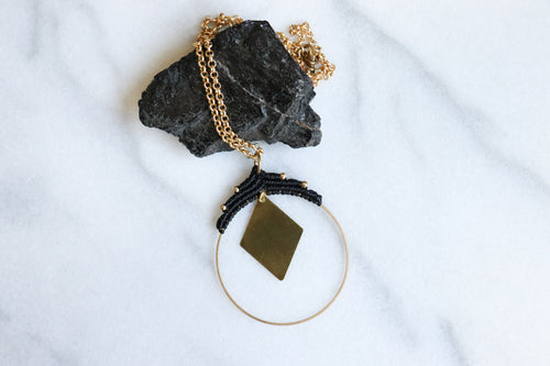 Statement rhombus necklace