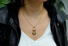 Load image into Gallery viewer, Big disc drop necklace