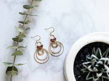 Load image into Gallery viewer, Multiple circle drop macrame earrings