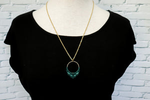 Two tone macrame necklace