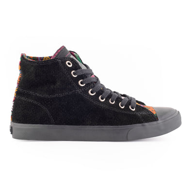 Black Perforated High Top - ML Footwear