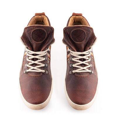 Brown Leather Camping Boot