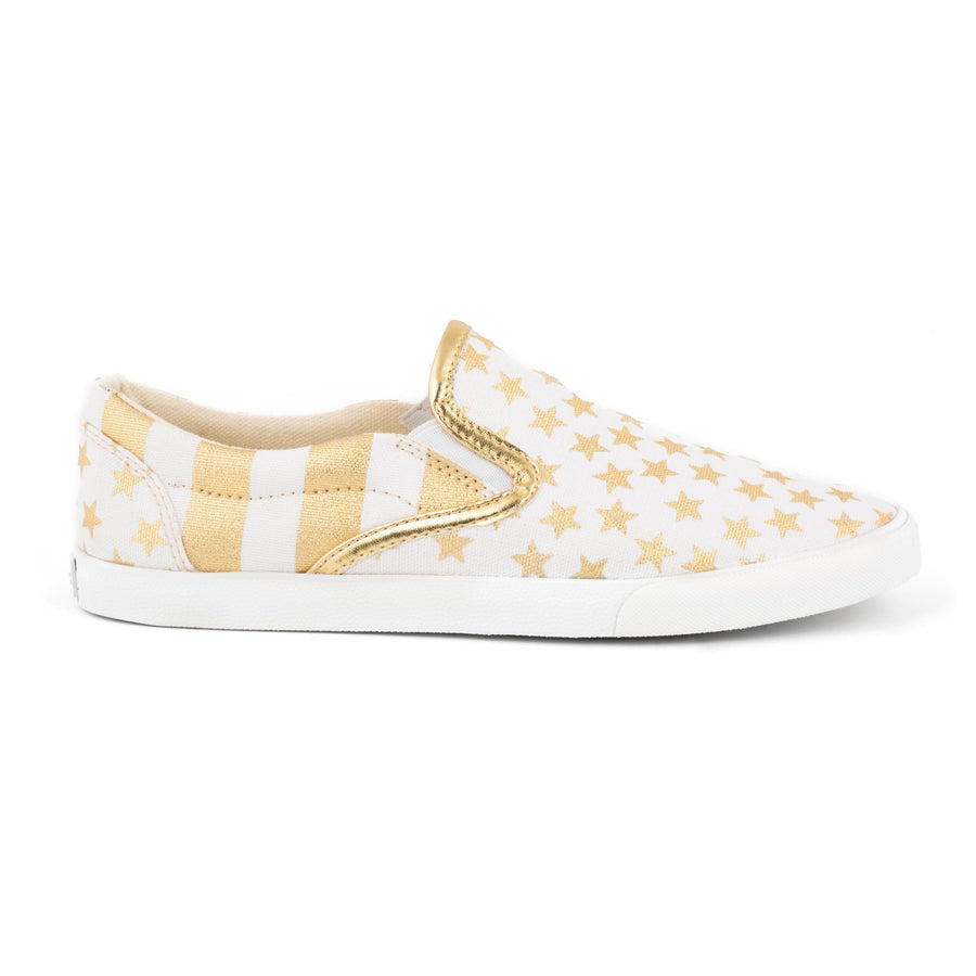 Gold Stars & Stripes Slip On