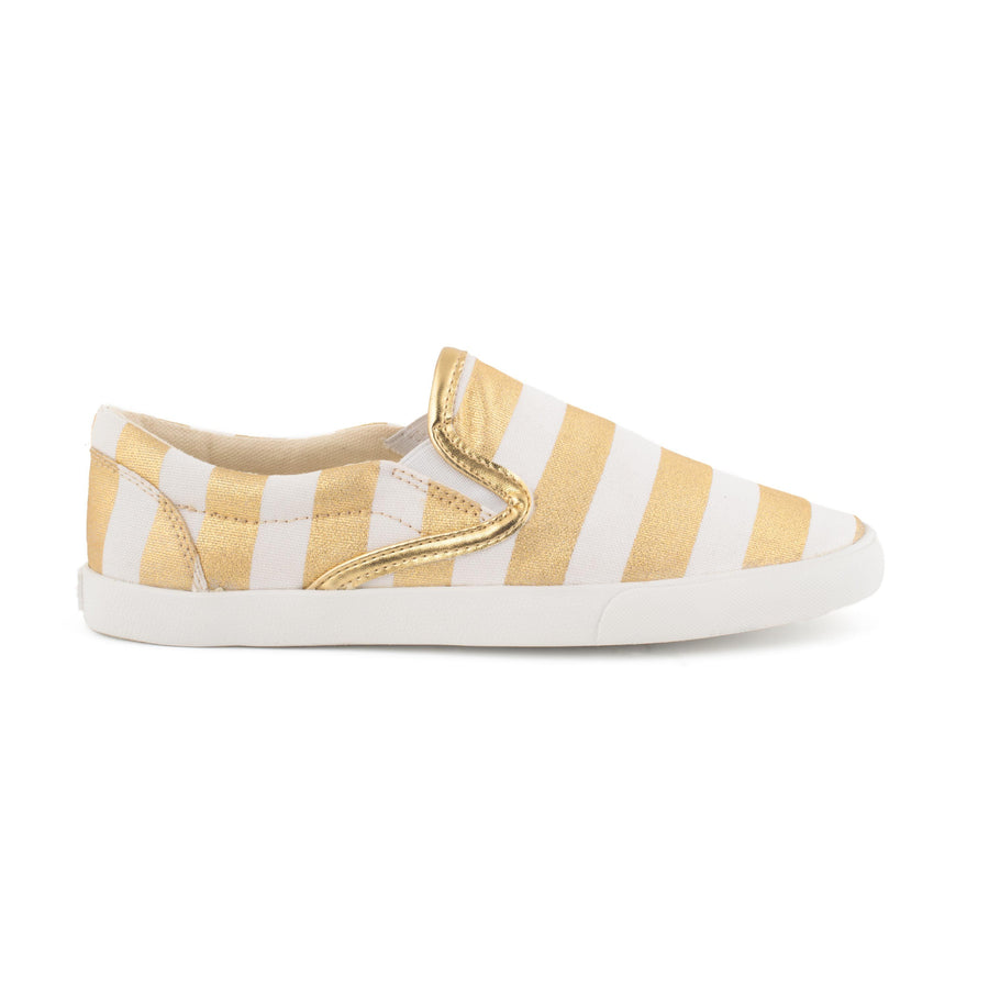 Gold Stripes Slip On