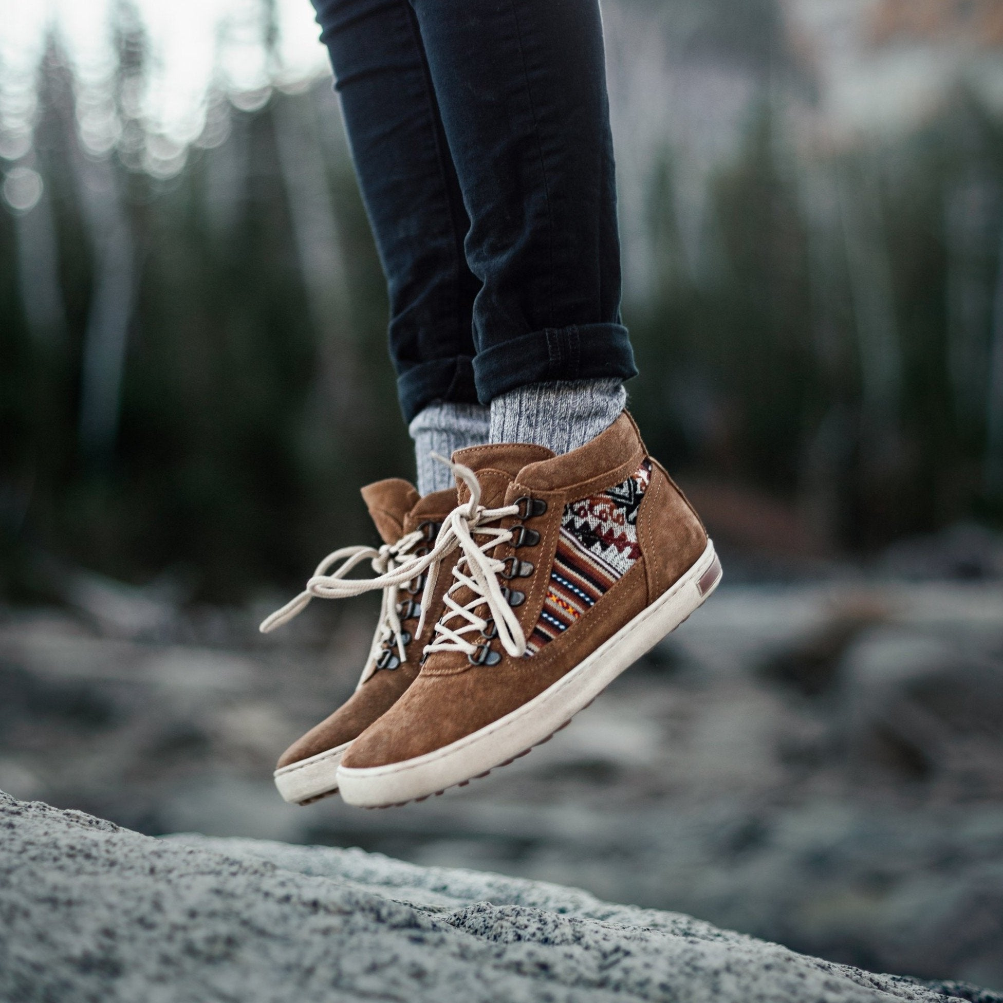 Tan Suede Camping Boot - ML Footwear