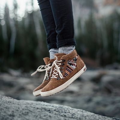 Tan Suede Camping Boot